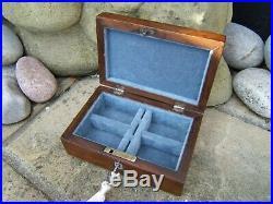 Wonderful 19c Figured Rosewood Inlaid Antique Jewellery Box Fab Interior