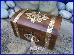 Wonderful 19c Figured Walnut Antique Jewellery Box Fab Interior