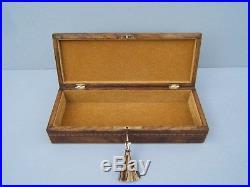 Wonderful 19c Sorrento Olivewood Inlaid Antique Jewellery Box Fab Interior