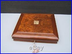 Wonderful 19c Victorian Burr Walnut Antique Jewellery Box Fab Interior