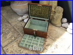 Wonderful 19c Victorian Figured Walnut Antique Jewellery Box Fab Interior