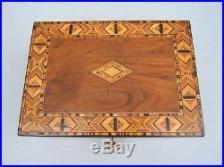 Wonderful 19c Victorian Inlaid Walnut Antique Jewellery Box Fab Interior