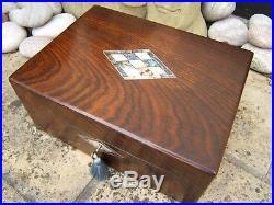 Wonderful 19c Victorian Rosewood Inlaid Antique Jewellery Box Fab Interior