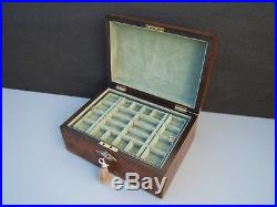 Wonderful 19c Victorian Walut Inlaid Antique Jewellery Box Fab Interior