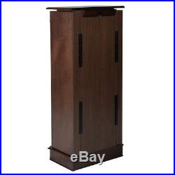 Wood Jewelry Cabinet Armoire Box Storage Organizer Crystal Sideboard Chest Stand