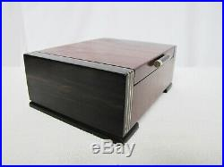 Woodcraft Woodshop Cocobolo Ebony Sterling Inlay Storage Jewelry Box