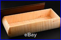 Wooden Box CURLY MAPLE/WALNUT hand crafted trinket keepsake ornamental jewelry