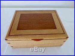 Wooden Jewellery Box West Australian Tuart & Jarrah with removable tray