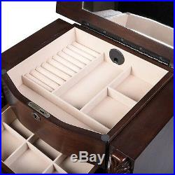 Wooden Jewelry Cabinet Armoire Box Storage Chest Stand Organizer for Jewelry
