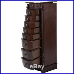 Wooden Jewelry Storage Large Box Home Holder Vintage Retro Organizer Stand