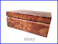 Wooden thuya box beautiful Jewelry Box Made Of wooden Thuya Burl, Lockable Wooden