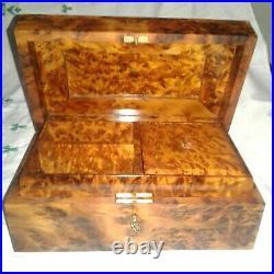 Wooden thuya box jewelry box thuya wood handmade in moroccan grain knots wood