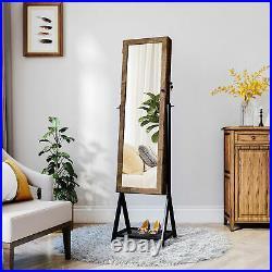 YITAHOME Full Length Mirror Jewelry Cabinet Armoire Storage Organizer Lockable
