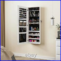 YITAHOME Wall Door Mounted Jewelry Cabinet Armoire Large Box Organizer Mirror
